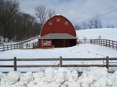 Flag on red barn | Flickr - Photo Sharing!