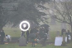 "#OnceUponaTime in Mountain View Cemetery today. Meghan Ory guest stars. Josh Dallas & Colin O'Donoghue high-5-ed. - 5 * 18 ""Ruby Slippers"" - 26 January 2016"