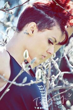 Pretty punk rock. Short hair. Photoshoot. Ellie DeBoe. Langston DeBoe. Photography