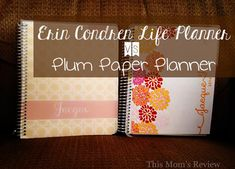 Erin Condren Life Planner vs Plum Paper Planner - Comparison Review  #eclifeplanner #fabfans #ecbloggers