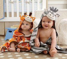 Toalha capuz bichinhos (girafa e zebra)  animal hooded towels