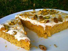 Lemon and almond cake with vanilla frosting - Silvia Colloca