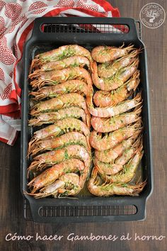 Como hacer gambones al horno (16) Seafood Recipes, Cooking Recipes, Healthy Recipes, Tapas, My Favorite Food, Favorite Recipes, Good Food, Yummy Food, Health Dinner