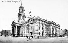 Wellington | Old Photos NZ Wellington City, Garden Gazebo, Houses Of Parliament, Town Hall, Old Photos, New Zealand, Old Things, Louvre, Island