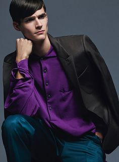 DETAILS February 2015 - Spring Menswear Essentials Straight From the Runway - Philip Witts wears Ermenegildo Zegna Couture
