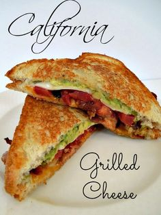 smokey bacon, avocado, jalapenos and tomatoes kick up this grilled cheese recipe. I love this sandwich!