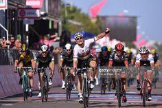 #giro100 100th Tour of Italy 2017 / Stage 2Arrival / Andre GREIPEL (GER)/ Celebration / Fernando GAVIRIA (COL)/ Roberto FERRARI (ITA)/ Jasper STUYVEN (BEL) White Young Jersey/ Olbia - Tortoli (221km) / Giro /