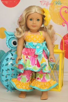 Download Suzie's Top and Dress and Brianna's Pants and Capris 18 inch Doll Sewing Pattern | Dolls & Clothing | YouCanMakeThis.com