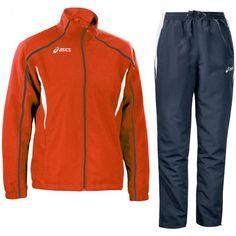 Melegítő Asics Suit Event garnitúra piros,tengerészkék unisex 3XL Asics, Adidas Jacket, Suit, Athletic, Unisex, Jackets, Fashion, Moda, Athlete