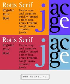 Rotis Serif by Monotype