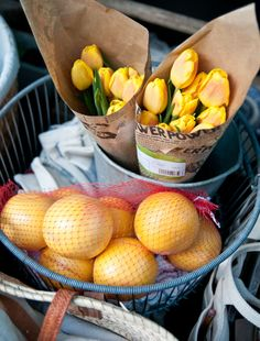 Yellow Tulips & Lemons props for shoot by Heather Bullard