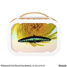 Whimsical Cool Floral Cute Butterfly Custom Lunch Box