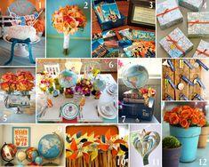 travel themed centerpieces   Travel-Themed Wedding Ideas - MYWVWEDDING.COM