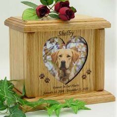 idea for business Heart Photo Wood Pet Cremation Urn Cremation Boxes, Pet Cremation Urns, Dog Urns, Pet Ashes, Dog Memorial, Memorial Ideas, Pet Loss, Unique Animals, Photo On Wood
