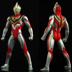 Bandai Ultra-Act Ultraman Gaia V2 Bonecos Ultra man.