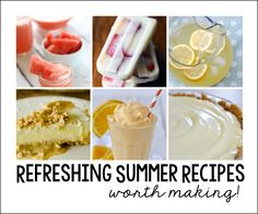 Refreshing summer recipes worth making. Great recipes for your summer BBQs and Parties. From drinks to dessert recipes!