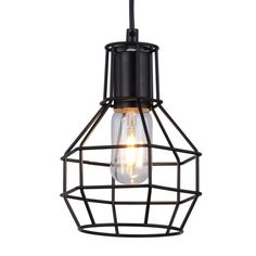 Pendant light - metal design black - Fera. Modern with an industrial style pendant lamps at low price