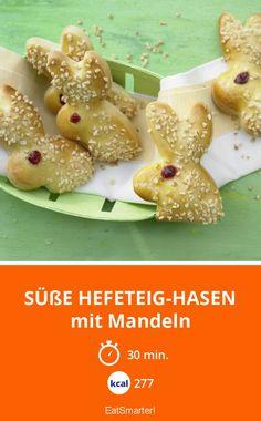Süße Hefeteig-Hasen - mit Mandeln - smarter - Kalorien: 277 kcal - Zeit: 30 Min. | eatsmarter.de