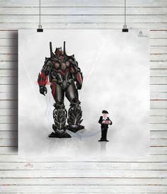 Poster  Robô poster para quarto de menino / Artista: Alex Guenther