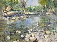 "Cottonwood Creek by Mike Wise Oil ~ 12"" x 16"""