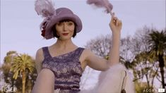 Essie Davis as Phryne Fisher in Miss Fisher's Murder Mysteries: Season Episode 2 - Murder On The Ballarat Train Miss Fisher, Essie, Crochet Hats, Seasons, Costumes, Image, Google Search, Clothes, Search