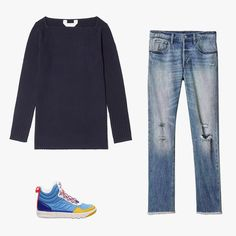 Lauren Mechling, Vogue Senior Editor - I have a pair of faded boyfriend-meets-mom jeans that I bought a few years ago at the Gap and that are weirdly flattering. I wear them most Fridays, along with a boatneck top and Rag