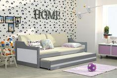 Łóżko młodzieżowe DAWID – 2 osobowe wysuwane – GRAFIT 190x80  łóżko dziecięce