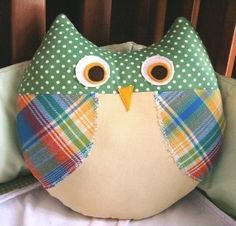 Max the Owl Pillow Plush Sewing Pattern PDF Cute by sewlovefabrics
