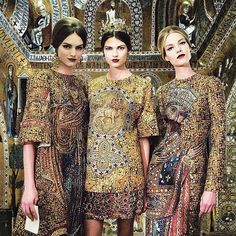 Monreale cathedral and Dolce Gabbana @dolcegabbana AW13 #art #architecture #fashion