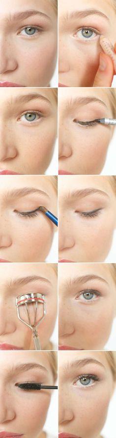 Maquillage discret pour agrandir les yeux.15 tutos de maquillages pour les yeux que vous allez adorer