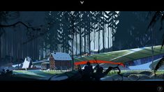 The Banner Saga: village of Skogr. // The scenes, the lore, the music...this gorgeous game gets stuck in my head.