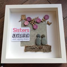 Pebble Art Sisters Gift For Her Sister Xmas Christmas Birthday Best Friend Wall
