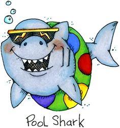 Pin the Fin on the Shark - Cartoon Shark Clipart | Shark Party ...