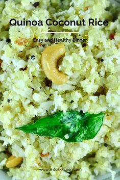 Quinoa coconut rice is an easy and healthy recipe in just 30 minutes. It tastes delicious just like the traditional South Indian coconut rice. Bacon Thanksgiving Recipes, Bacon Recipes Low Carb, Bacon Recipes For Dinner, Easy Brunch Recipes, Delicious Dinner Recipes, Healthy Recipes, Rice Recipes, Coconut Recipes, Recipies