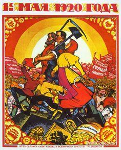 Russian May Day                                            Через обломки кпитализма к всемирному братству трудящихся