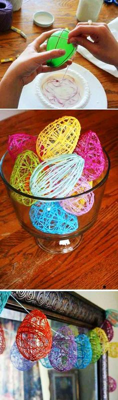Make an Easter Egg Garland from balloons! Make an Easter Egg Garland from balloons! Kids Crafts, Crafts To Do, Arts And Crafts, Kids Diy, Twig Crafts, Easy Easter Crafts, Decor Crafts, Spring Crafts, Holiday Crafts