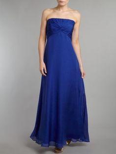 Ariella Long chiffon dress Cobalt - House of Fraser