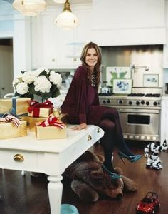 Aerin Lauder's house in the Hamptons decorated for Christmas