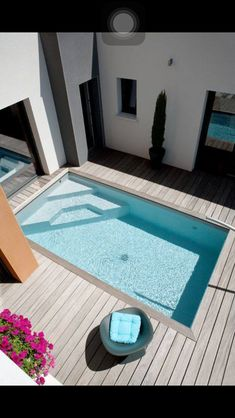 Stock Tank Swimming Pool Ideas, Get Swimming pool designs featuring new swimming pool ideas like glass wall swimming pools, infinity swimming pools, indoor pools and Mid Century Modern Pools. Find and save ideas about Swimming pool designs. Small Swimming Pools, Small Pools, Swimming Pool Designs, Indoor Swimming, Small Pool Ideas, Small Decks, Lap Pools, Small Yards, Small Backyards