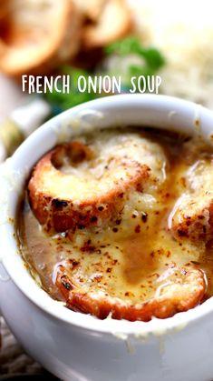 Easy Soup Recipes, Fall Recipes, Crockpot Recipes, Dinner Recipes, Cooking Recipes, Homemade Soup, Onion Soup, Quinoa, Different Recipes