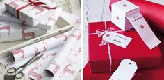 Christmas wrapping paper from Cox & Cox