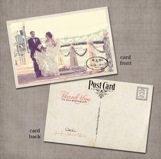 Vintage postcard thank you cards.