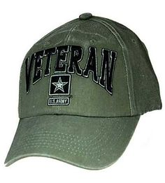 ade991165d7b0a U.S. Military Online Store - U.S. Army Veteran - O.D. hat Embroidered  Baseball Caps, Military