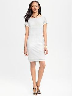Knit lace dress - comfy and styling' ...would love with a pair of leopard platforms!