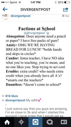 Divergent - Factions at School