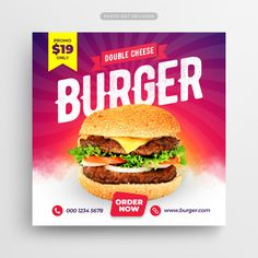 Web banner Vectors, Photos and PSD files Food Graphic Design, Food Menu Design, Food Poster Design, Design Design, Social Media Banner, Social Media Design, Food Banner, Fast Food Restaurant, Social Networks