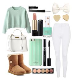 """Warm"" by mmsp9999 ❤ liked on Polyvore featuring Topshop, UGG Australia, Hermès, Isaac Mizrahi, Kate Spade, Lancôme, H&M, Lord & Berry, Winter and croptop"