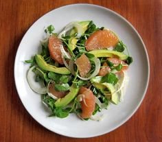 Remember those lovely pea shoots we received in our CSA box last week? We threw them into an avocado and pink grapefruit salad, along with slices of spring fennel, and they turned this classic food pairing into something even more vibrant and refreshing.
