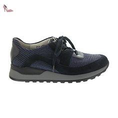 Waldl?ufer Hagen, Derby Chaussures Homme, Mehrfarbig (Deepblue cogn. Weiss), 43 EU