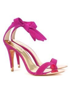 Ankle tie heel - Bright Pink | Shoes | Ted Baker #PinPoinTED